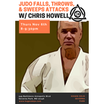 Judo Falls, Throws, & Footsweeps w/Chris Howell 12.6.18